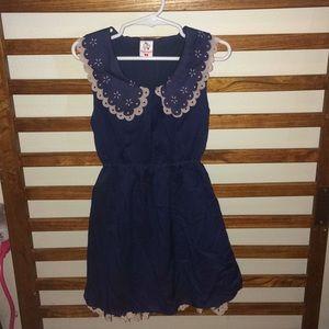 Girls Navy Dress 👗 size 9